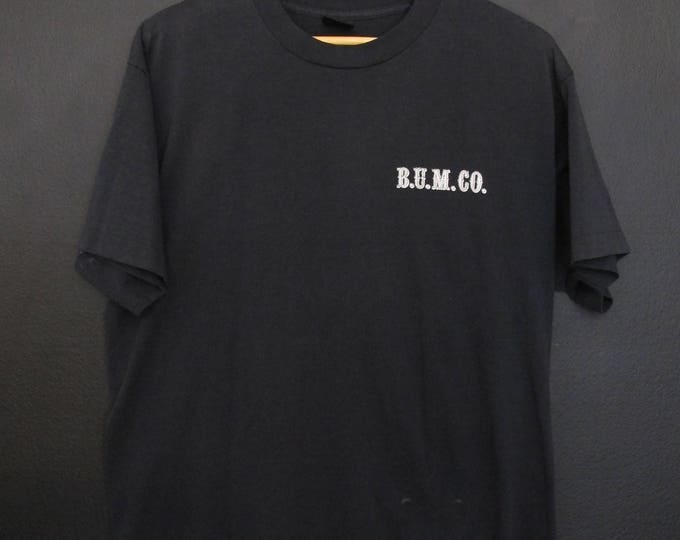 BUM CO. Bodie Union Mining Bridgeport 1980's Vintage Tshirt
