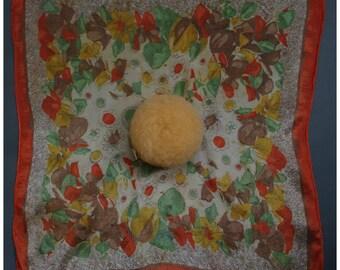 Vintage 1920s/20s 1930s/30s Handkerchief/Hankie POWDER PUFF Flapper Boudoir