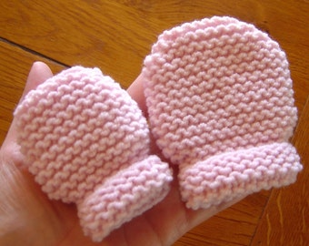 French Baby and Toddler Thumbless Mittens Pattern PDF