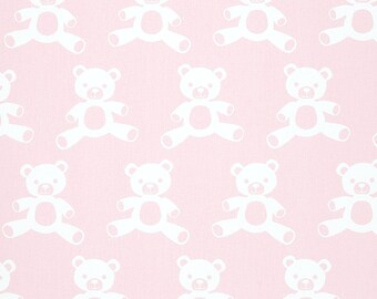 Teddy Bella Pink White Premier Prints Fabric Home Decorating Fabric By The Yard Cotton Twill