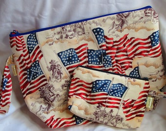A Patriotic  Knitting Large Project Bag Set-  Political Theme