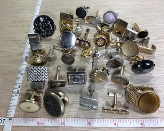 Vintage Lot Of Single Cuff Links No Matches Used