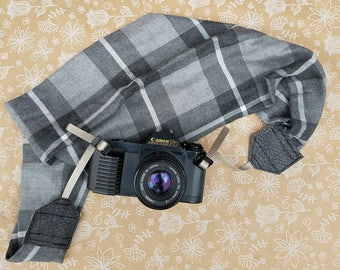 Plaid Camera Strap, Scarf Camera Strap, DSLR Camera Strap, Camera Strap Scarfs, Camera Strap, Camera Strap for DSLR, Gifts for Photographers