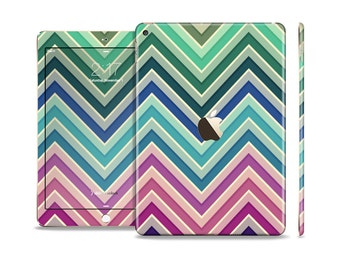 The Vibrant Colored Chevron Layered V4 Skin Set for the Apple iPad (All Models Available)