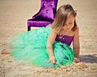 Mermaid Costume, Mermaid Dress, Mermaid Birthday Dress, Mermaid Tutu Costume, Mermaid Tutu, Girls Mermaid Tutu Dress, Mermaid Tutu Skirt