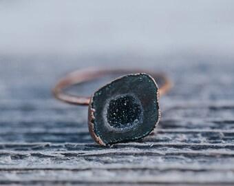 Geode Ring | Raw Crystal Ring | Bohemian Wedding Ring | Wedding Ring | Engagement Ring | Alternative Engagement Rings | Raw Gem Ring
