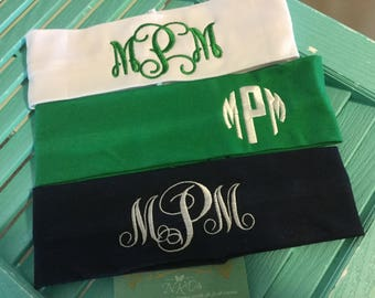 """Sale today! 2-1/2"""" Stretchy School Headband Custom Monogrammed Stretch Name Or Initials Girls Sports Class Teams Names Schools Friends Clubs"""