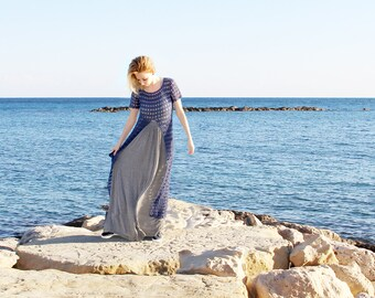 """Knitted tunic """"On the seashore"""""""