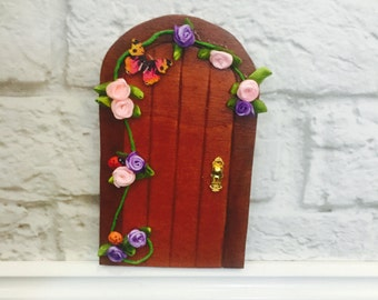 Fairy Door - Spring Fairy Door Garden - Indoor Fairy Garden - Tooth Fairy Door - Fairy Bedroom Ideas - Fairy Gift - Fairy Door Kit