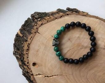 Gemstone Bracelet, Fox Gemstone, Bracelet, Green, Gift, Christmas, Gemstone, Natural Stone, Stone Gemstone, Onix Gemstone, Gift