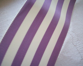 wholesale Orchid vintage ribbon 2 inch stripe
