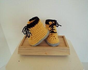 Baby Work Booties Newborn Crib Shoes Crochet Boots Infant Boy Slipper Boots
