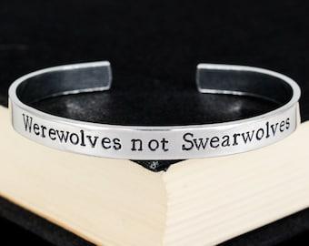 Werewolves not Swearwolves Bracelet - What We Do in the Shadows - Horror - Aluminum Cuff Bracelet