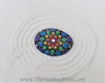 Hand-Painted Mandala Rock (Chakra Stone)