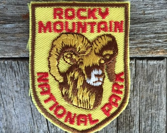 ONLY ONE! Rocky Mountain National Park Vintage Souvenir Travel Patch from Voyager