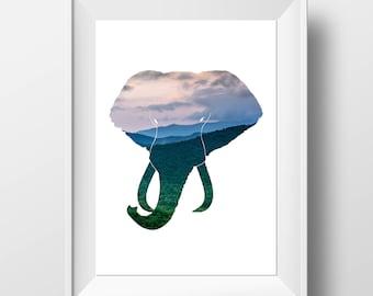Elephant Print - Elephant Art - Safari Decor - Elephant Decor - Safari Wall Art - Elephant Wall Art - Safari Animal Print - African Elephant
