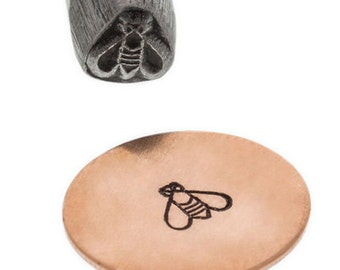 Bee Stamp-5 mm wide-Metal  Metal Design Stamp for Personalized Jewelry, Jewelry Supplies for Metal Work