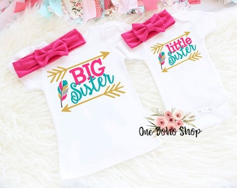 Big Sister Little Sister Outfits, Big Sister Shirt, Big Sister Announcement, Big Sister Gift, New Big Sister, New Little Sister BSLS6HP