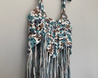Crochet boho festival crop top
