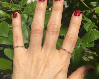 Bright Golden silver thin ring