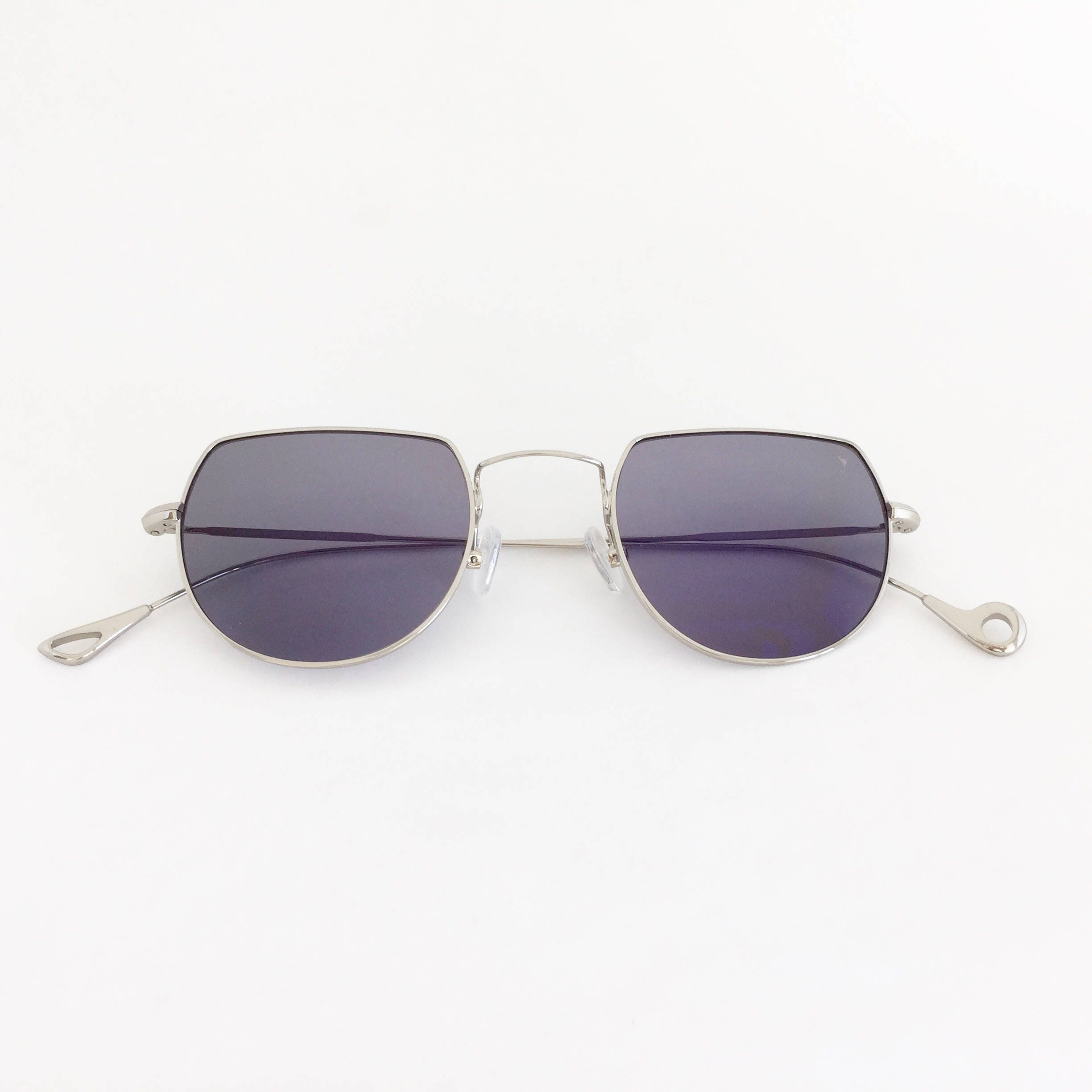 LIMITED EDITION Eyepetizer Opera Sunglasses Silver Frame Blue
