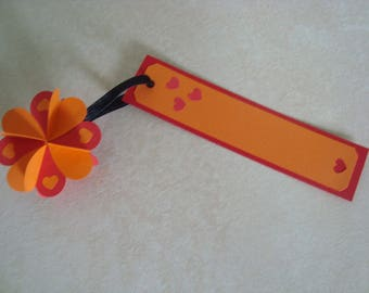 Orange and Red clover bookmarks