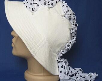 White cotton hat, Women's Hat, Cotton hat, Summer hat, White hat, Hat with a brim, Travel sunhat, Folding hat