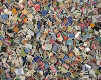 Two Pounds Bargain Assortment Mix Tiles for Mosaic -  Broken China