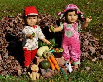 American Girl Photo, Doll Photography, Fine Art Photography, Autumn Harvest Photo, AG Photograph, Childrens Wall Art, 18in Doll Photograph