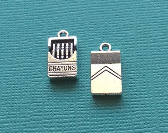 5 Crayons Charms Silver - CS2556