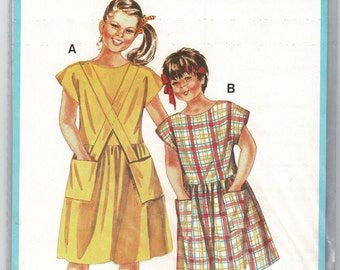"Burda 6644 EASY Girls Dress sewing pattern with Drop Waist, Back Button Bodice & Gathered Skirt, Sizes 6 7 10 12, Chest 23 25 26 29"" Uncut"