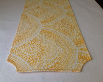 Yellow Stained glass look table runner