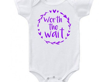 Worth the Wait Custom Baby Bodysuit