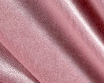 Princess LIGHT PINK Polyester Stretch Velvet Fabric by the Yard, Half Yard, Sample - 10001