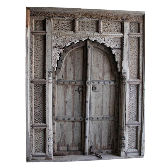 Like this item? - 18th Century Carved Maharajah Entrance Door Imposing Indian