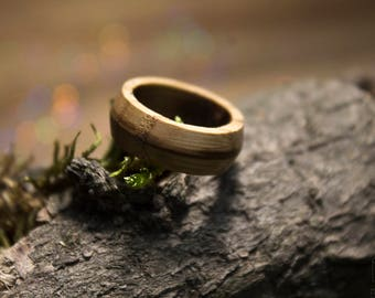 Wooden wedding ring, Wooden band ring, Bentwood ring, Wood jewelry, Mens wooden ring, Walnut ring, Wood wedding band, Wood engagement ring