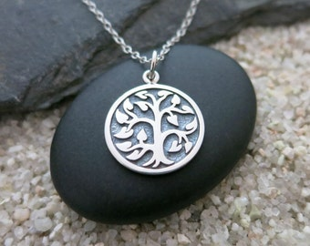 Tree of Life Necklace, Sterling Silver Tree of Life Charm, Nature Jewelry