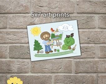Happy Tree Friends 5x7 Cartoon Art Print