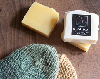 Wool Soap Bar - care for your woolens and skin - Lanolin rich soap - Citronella scented or unscented - Organic