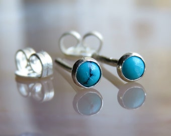 turquoise stud earring, small turquoise post earrings, classic ctud earrings