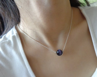 stripe agate necklace Purple Agate Necklace,  Crystal Necklace,  purple stripe agate Necklace,Gemstone necklace,purple agate necklace