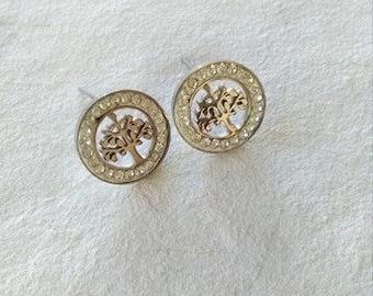 New tree of life earrings - Steel