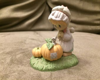 Precious Moments Miniature October Figurine - Enesco 1989