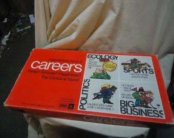 Vintage 1971 Careers Board Game by Parker Brothers, NOT COMPLETE, colectable