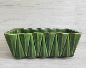 Vintage rectangular planter | Etsy