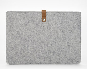 MacBook Air 13 Sleeve – MacBook Air Case – MacBook Cover – MacBook Air Leather - Leather Felt Case
