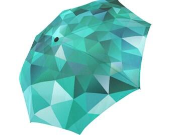 Green Umbrella Pattern Umbrella Designed Umbrella Geometric Umbrella Rainbow Umbrella Photo Umbrella Automatic Abstract Umbrella