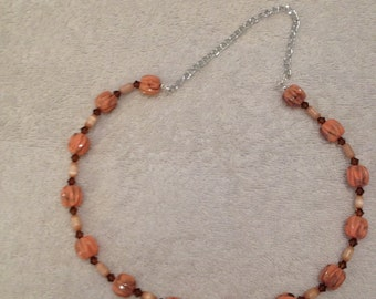 Salmon Pink Necklace