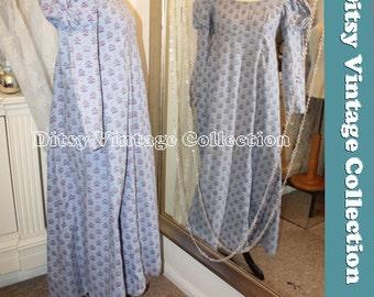 LAURA ASHLEY purple jane austen dress - 1960S VHTF