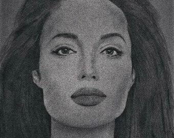Angelina Jolie Original Drawing